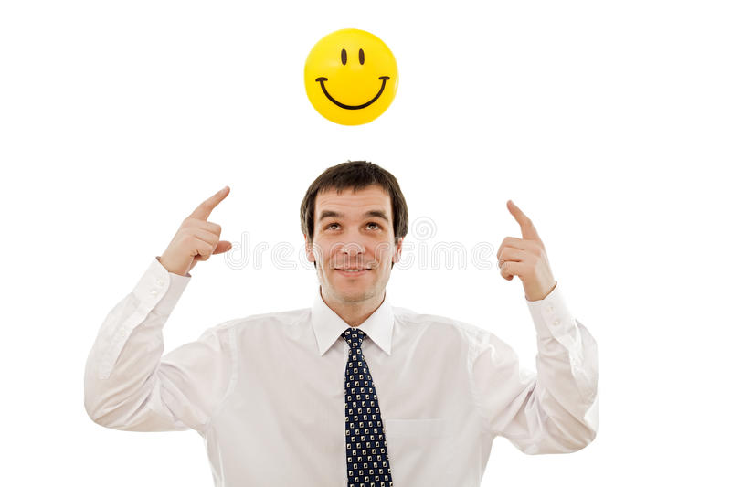 Download Businessman Thinking Positive Stock Image - Image: 13836083