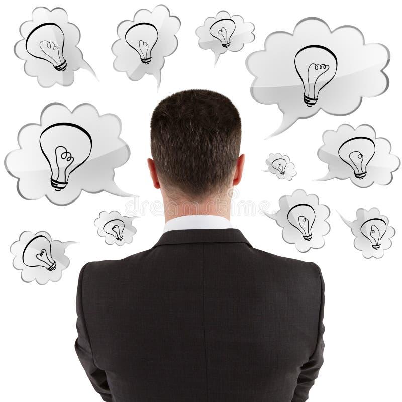 Businessman thinking vector illustration