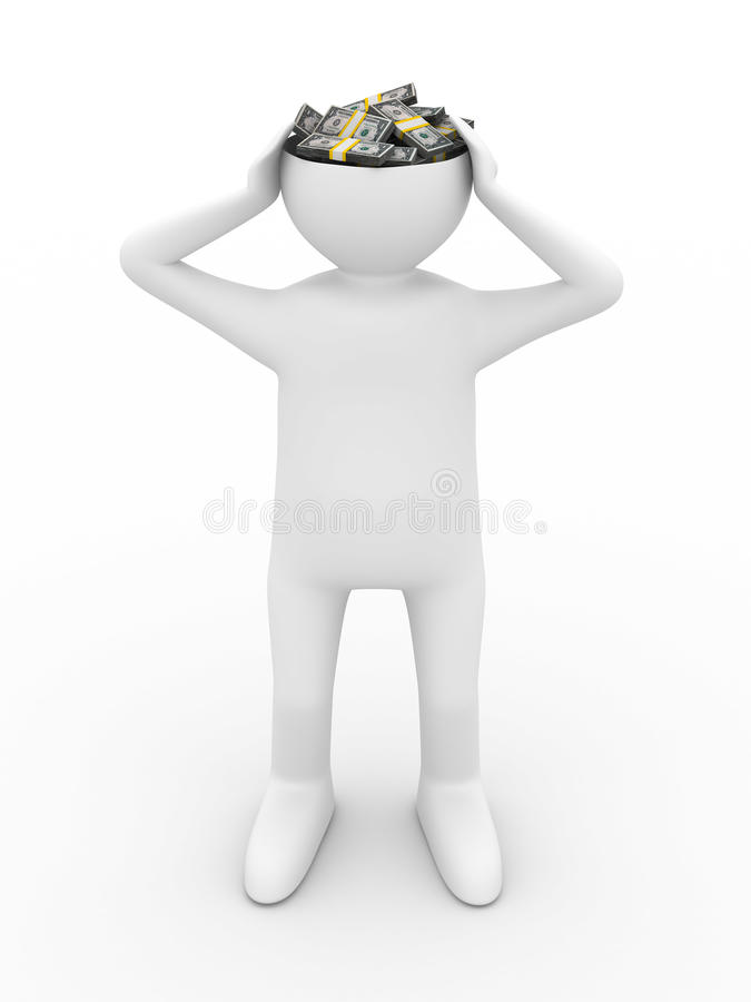Download Businessman Thinks Of Money Royalty Free Stock Photography - Image: 12963647