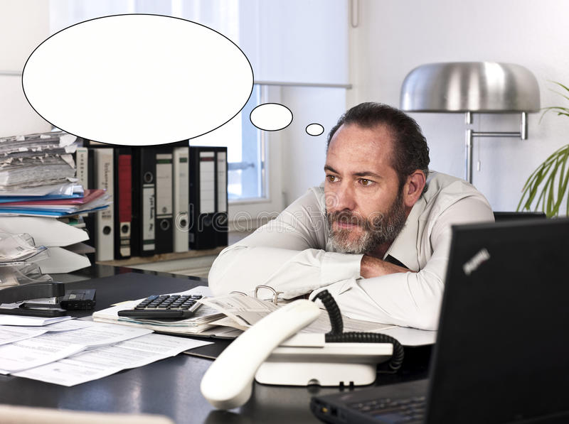 Download Businessman With Thought Bubble Stock Image - Image: 22536589