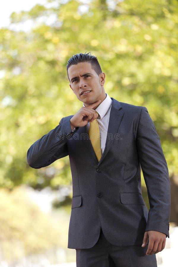 Businessman threatening you royalty free stock photos
