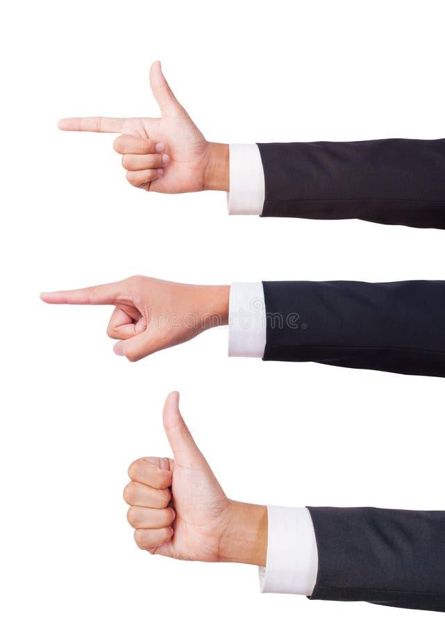 Download Businessman Three Hand Sign Stock Photo - Image: 26835932