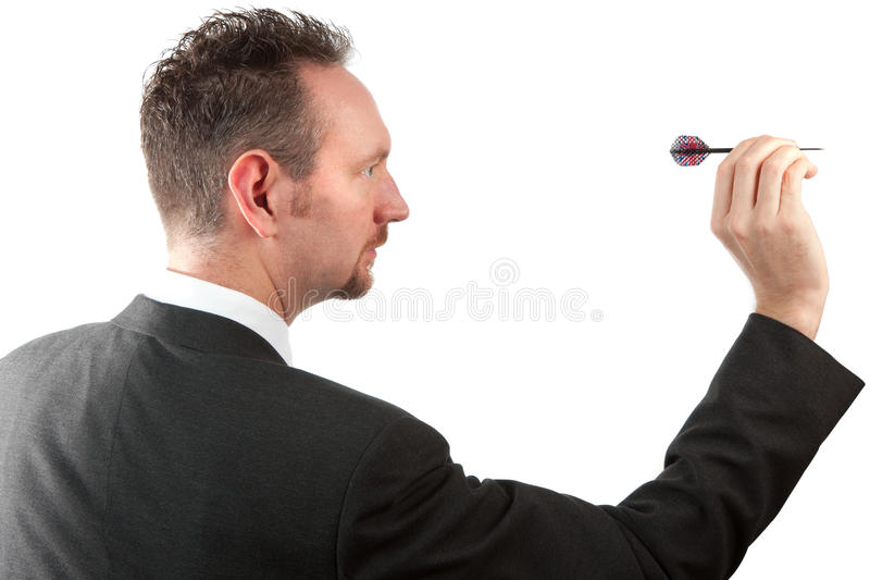 Download Businessman Throwing A Dart Stock Photo - Image: 16222184