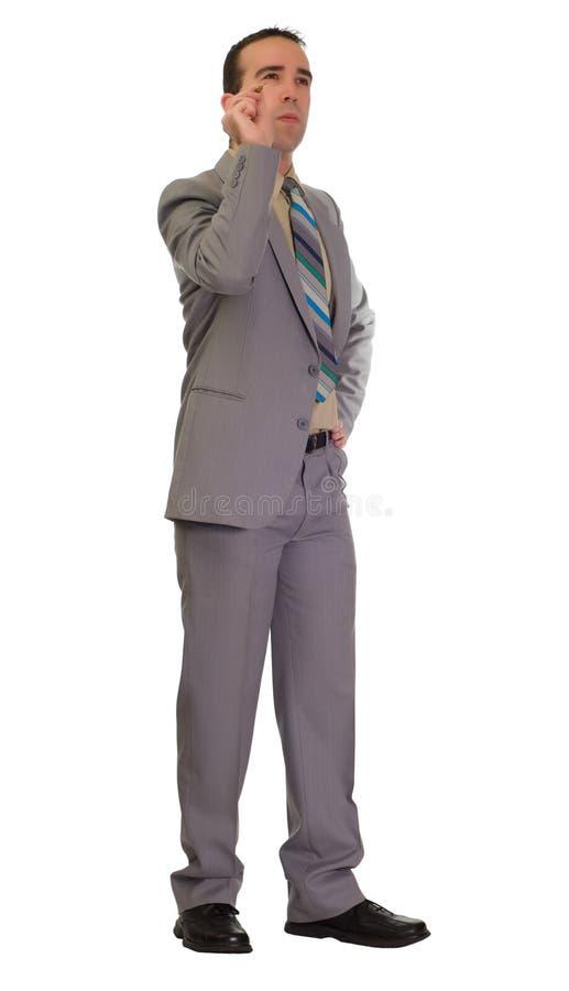 Businessman Throwing Darts royalty free stock photo