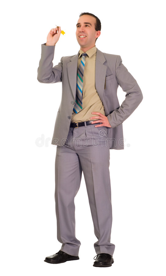 Businessman Throwing Darts stock photography