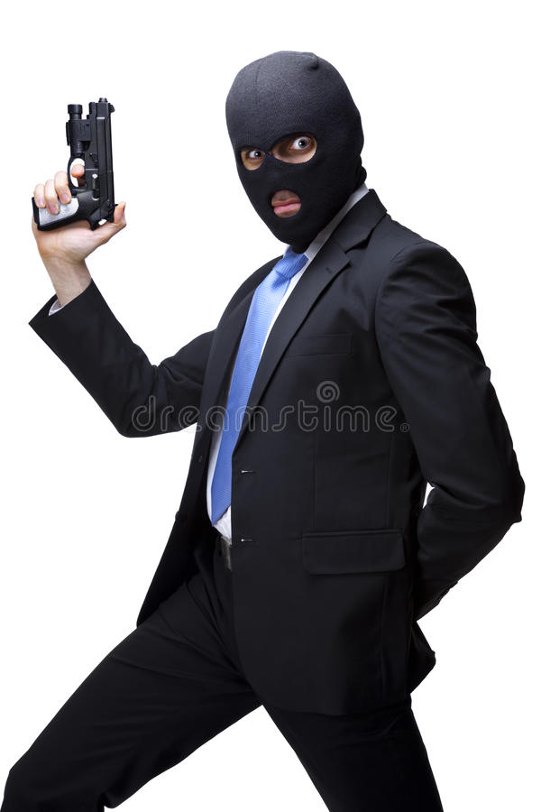 Download Businessman Thug With A Gun Stock Image - Image of isolated, male: 16088859