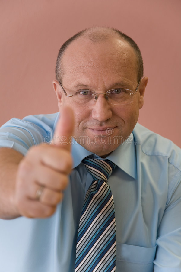 Download Businessman with thumb up stock photo. Image of smart - 2753456