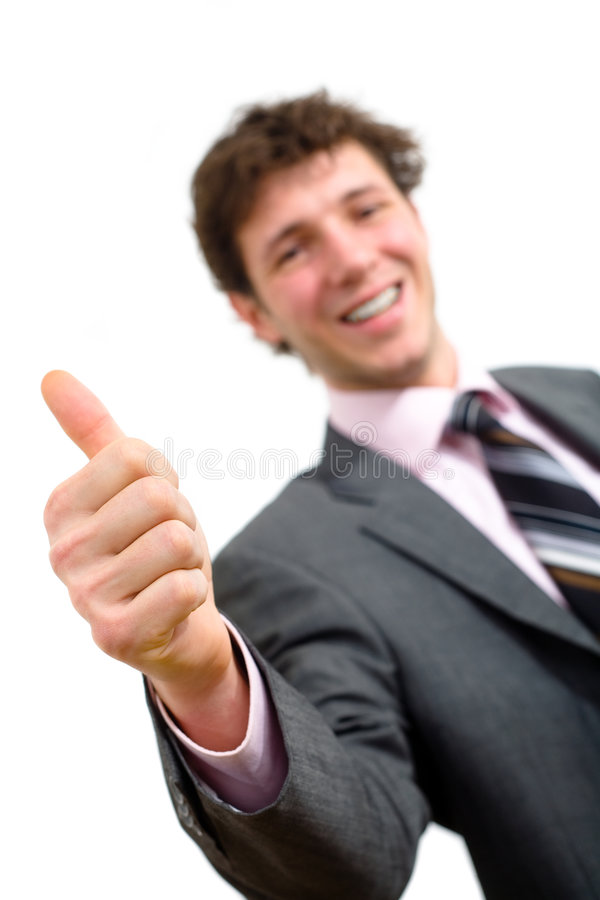Businessman With Thumb Up Royalty Free Stock Images
