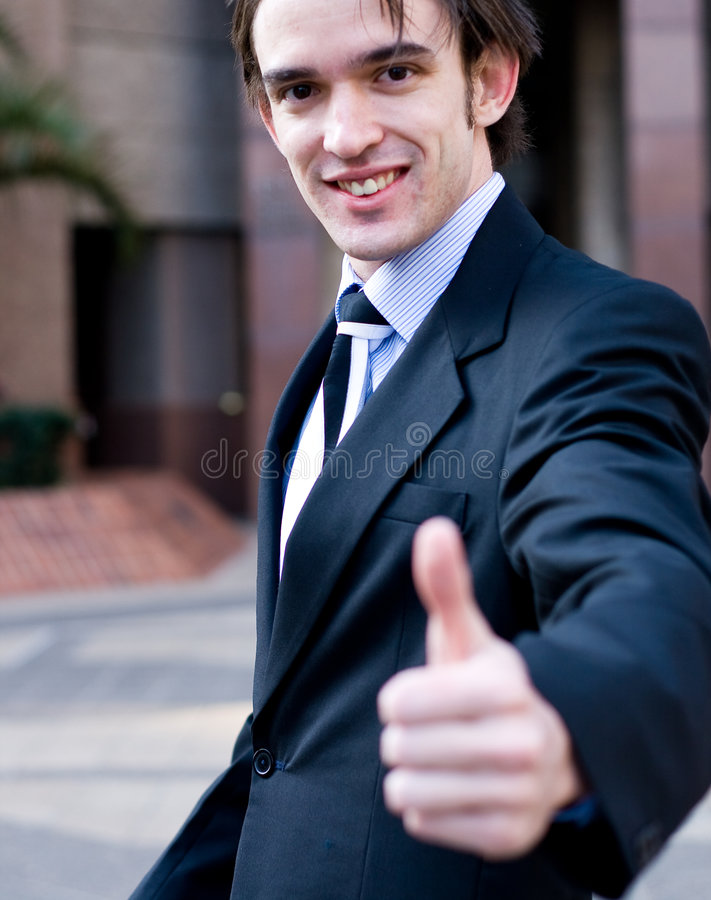 Download Businessman With Thumb Up Stock Photography - Image: 5890832