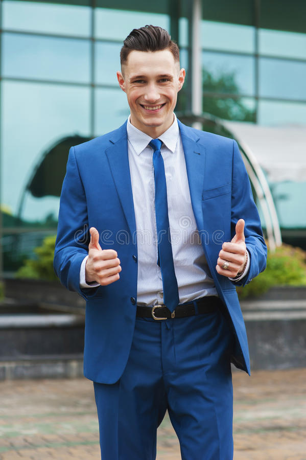 Download Businessman with thumb up stock image. Image of satisfaction - 33872891
