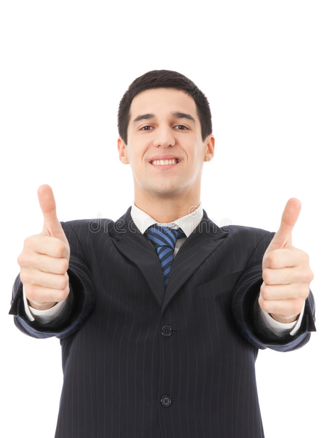 Download Businessman with thumbs up stock photo. Image of isolation - 10982776