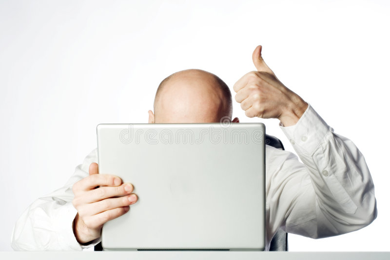 Businessman Thumbs Up royalty free stock photography