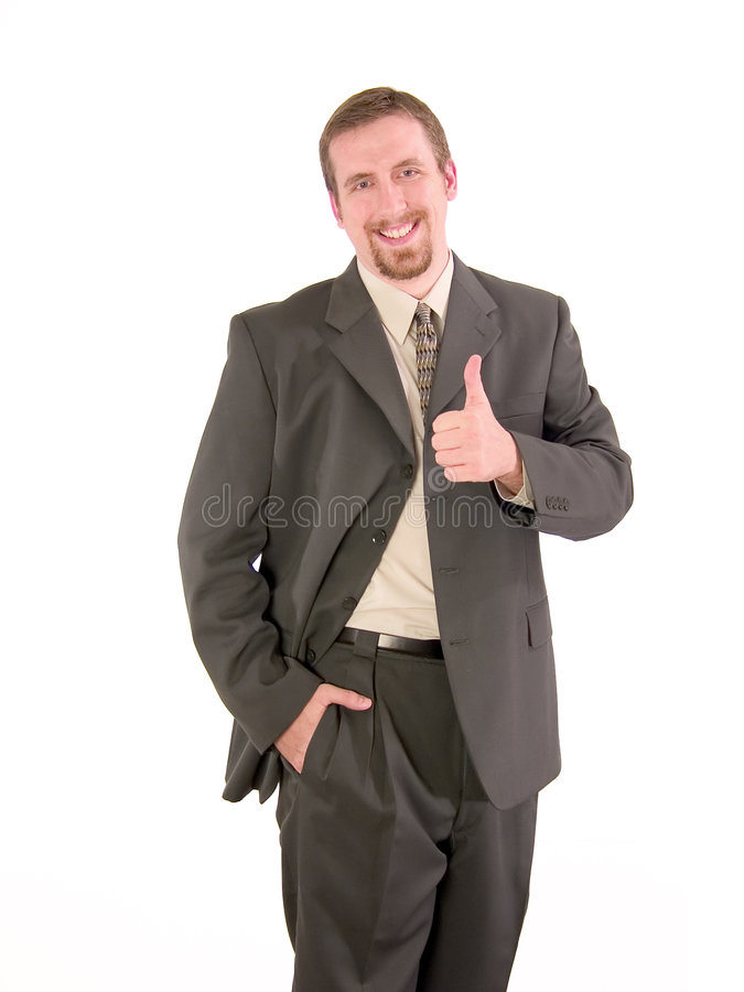 Businessman thumbs up royalty free stock images