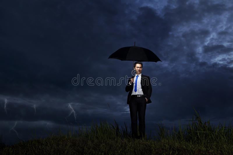 Download Businessman With Thunderstorm Stock Photo - Image: 23310290