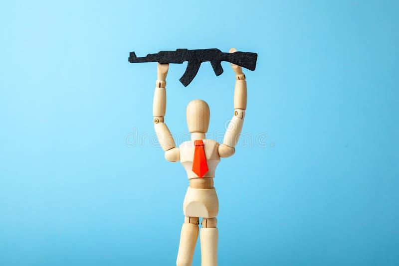 Businessman in a tie and arms machine gun in hand. Provocateur. Businessman in a tie and arms machine gun in hand. Provocateur stock photos