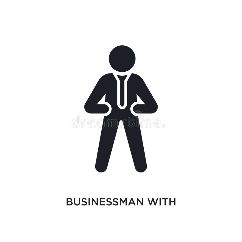 businessman with tie isolated icon. simple element illustration from humans concept icons. businessman with tie editable logo sign vector illustration
