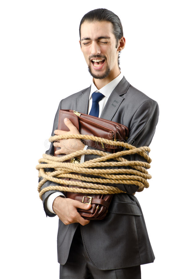 Download Businessman tied up stock photo. Image of overtime, caucasian - 22992804
