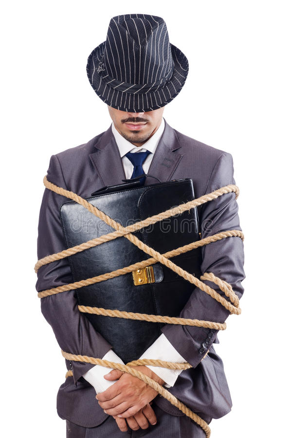 Download Businessman tied up stock image. Image of isolated, frustration - 27714953