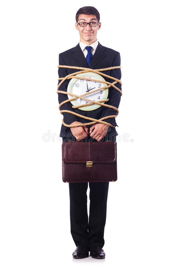 Download Businessman Tied Up With Rope Stock Photo - Image: 27908640
