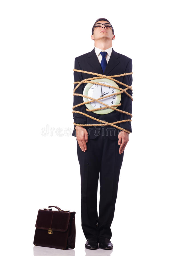 Download Businessman Tied Up With Rope Stock Photo - Image: 28135198