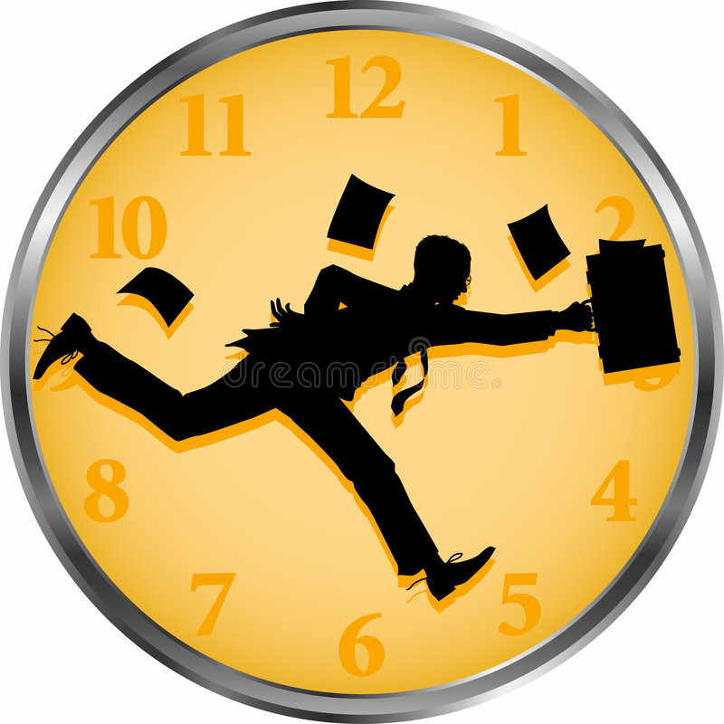 Businessman_time illustration libre de droits