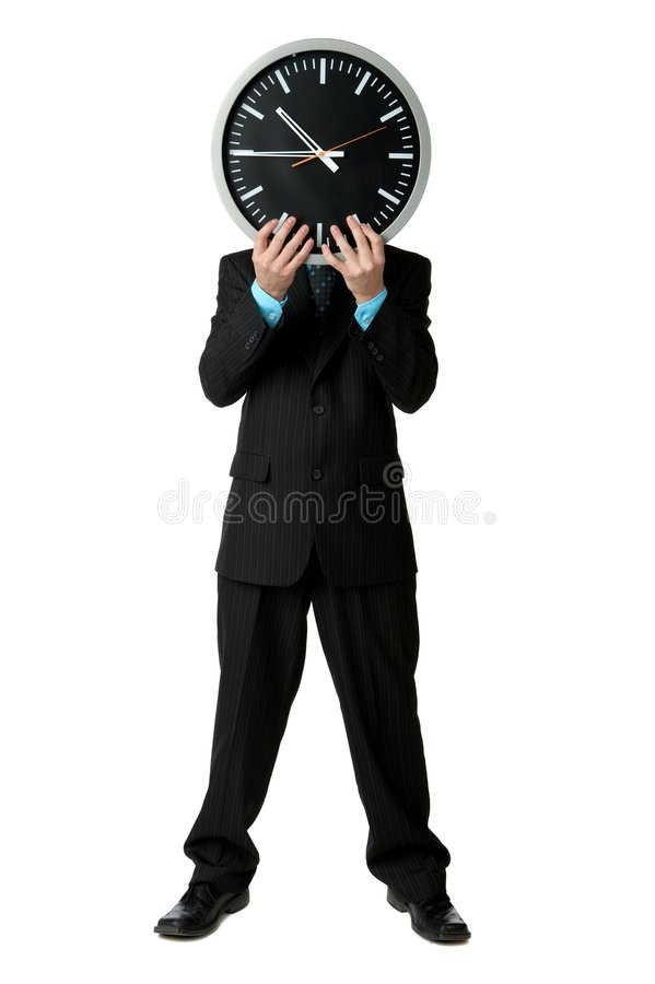 Businessman time stock photography