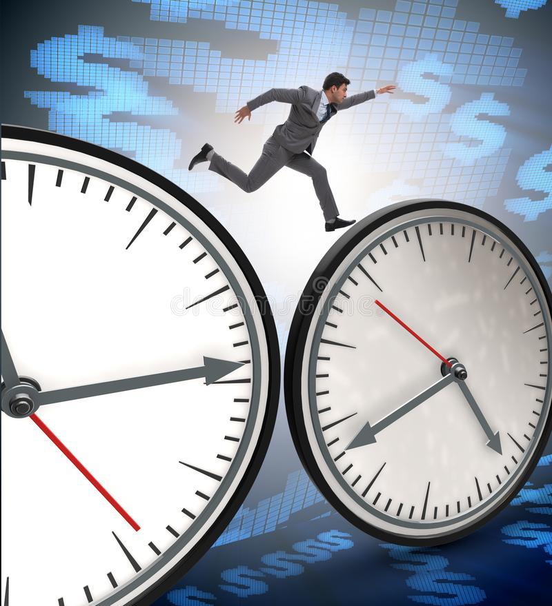 Businessman in time management concept royalty free stock images