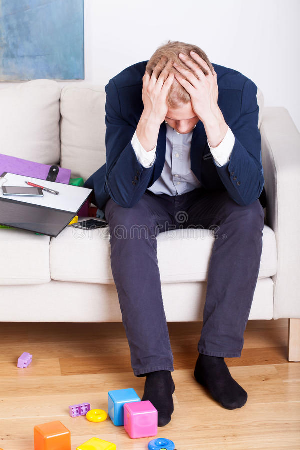 Businessman tired of life royalty free stock photo
