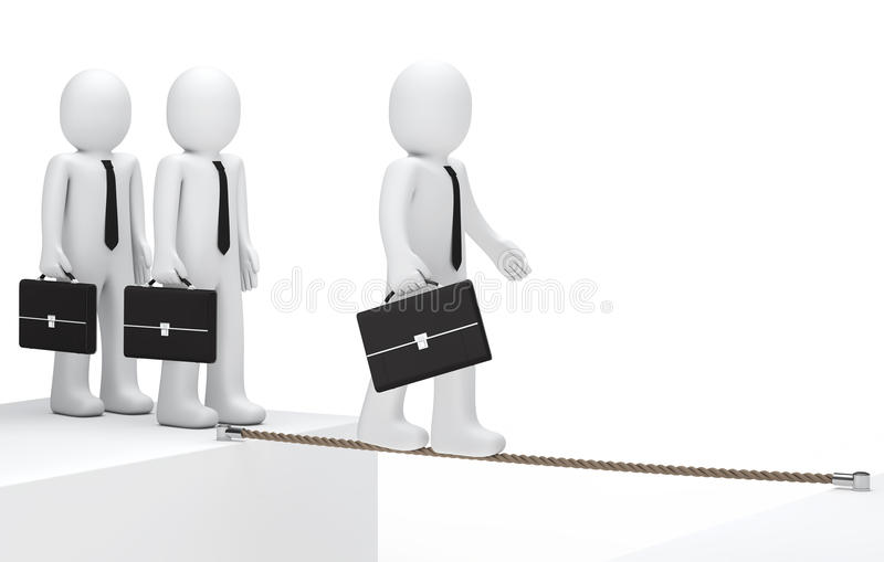Download Businessman to balance stock illustration. Image of fearless - 23747739