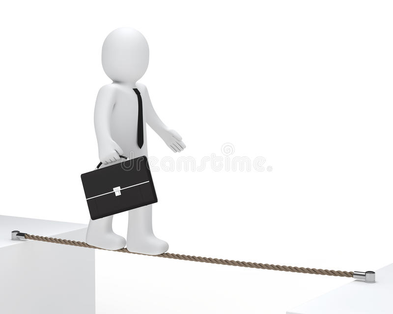 Download Businessman To Balance Royalty Free Stock Photos - Image: 23806838
