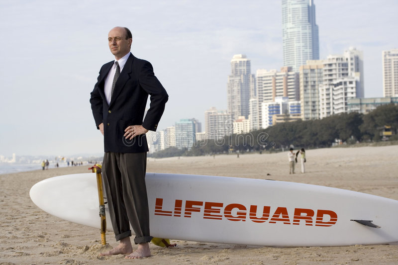 Download Businessman to the rescue stock image. Image of landscape - 3006523