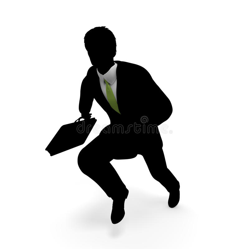 Businessman to run. Businessman take a pause. Work Good luck. I toward the goal. I get to the starting line. Ran continue stock illustration