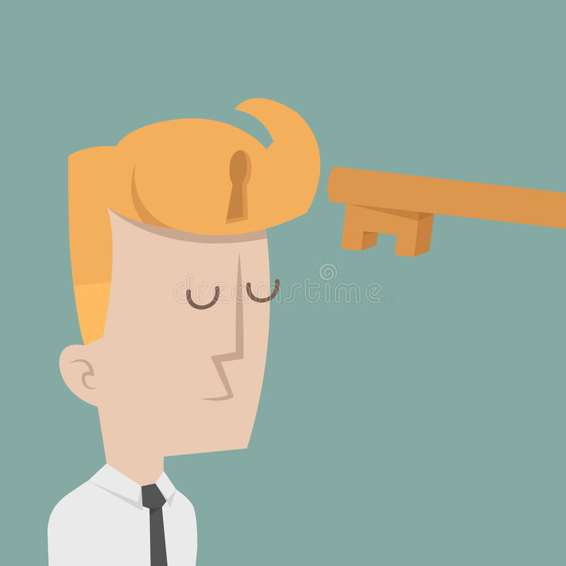 Businessman to success. Eps10 vector format vector illustration
