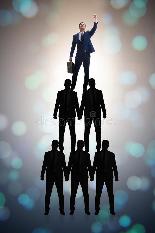 Download The Businessman At The Top Of Organisation Chart Stock Image - Image of orgchart, challenge: 101195883