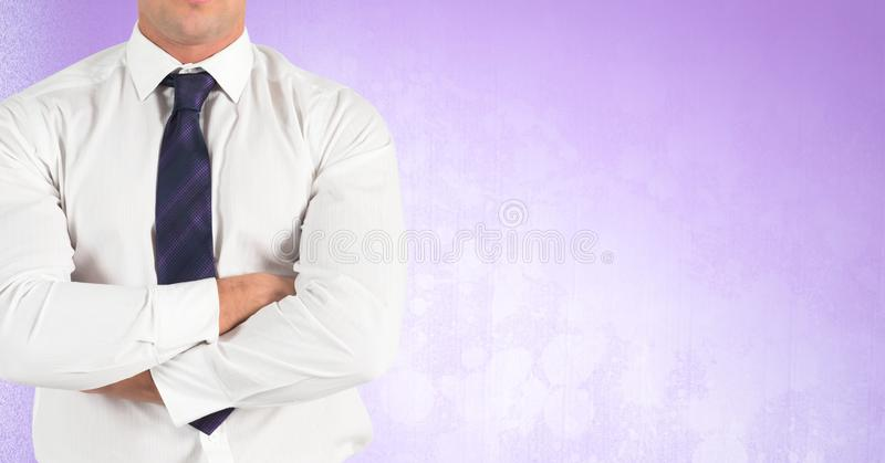 Businessman Torso against neutral background royalty free stock image