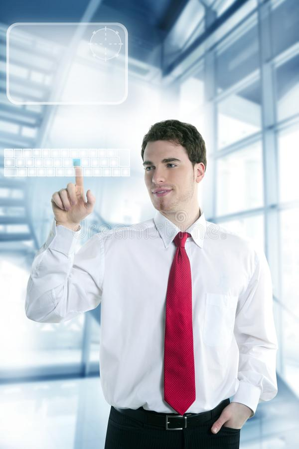 Download Businessman Touch Finger Copy Space Pad Stock Image - Image of board, office: 13893533