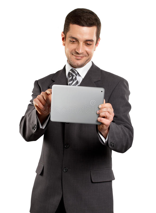 Download Businessman With touch Pad stock image. Image of casual - 22637051