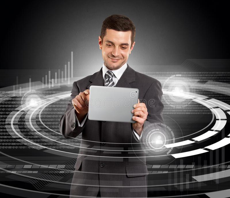Download Businessman With Touch Pad stock photo. Image of modern - 27216590