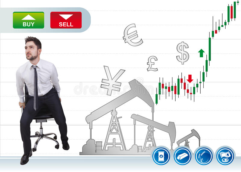 Businessman in trading royalty free stock images