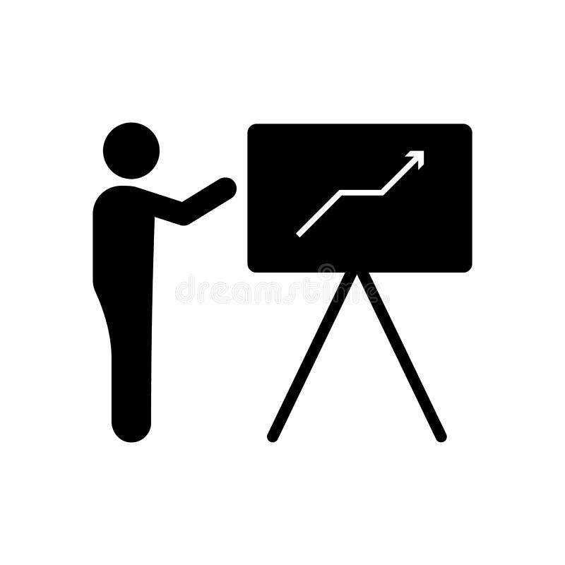 Businessman, training, explain icon. Element of businessman pictogram icon. Premium quality graphic design icon. Signs and symbols. Collection icon on white stock illustration