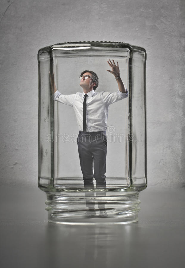 Businessman Trapped