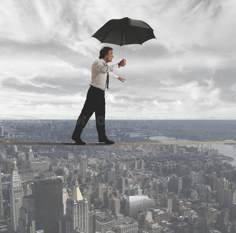 Download Businessman Trying To Keep Balance Stock Photo - Image: 25830286