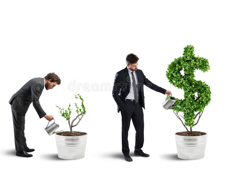 Ambition and skill of a businessman. 3D Rendering stock photography
