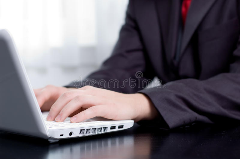 Download Businessman Typing On A Notebook Stock Image - Image of male, single: 11748715