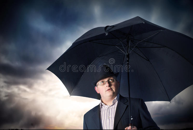 Download Businessman with umbrella stock image. Image of grief - 19499897