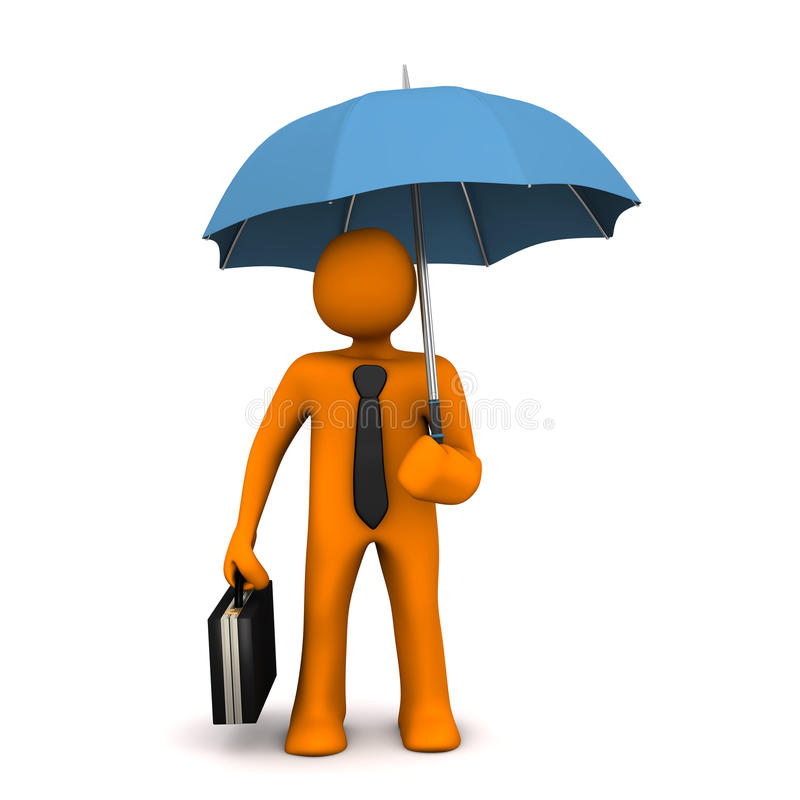 Businessman Umbrella stock illustration