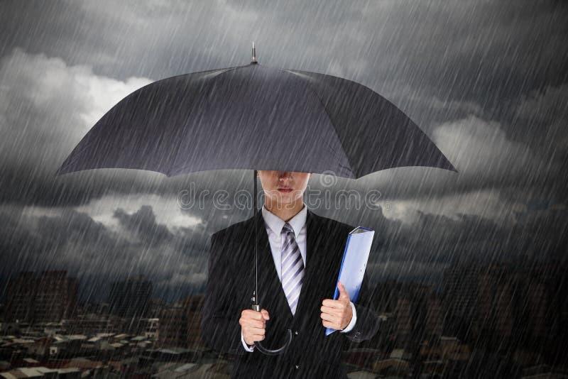 Download Businessman Under Heavy Rain Stock Photo - Image: 30958438