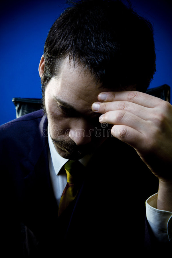 Download Businessman Under Stress stock photo. Image of dark, apprehension - 2074278