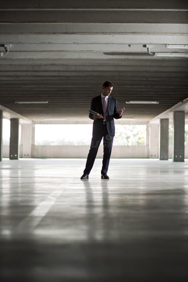 Businessman In Underground Parking Stock Photography