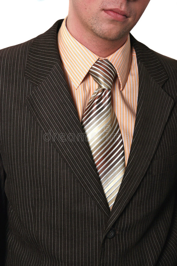 Businessman undressing royalty free stock photography